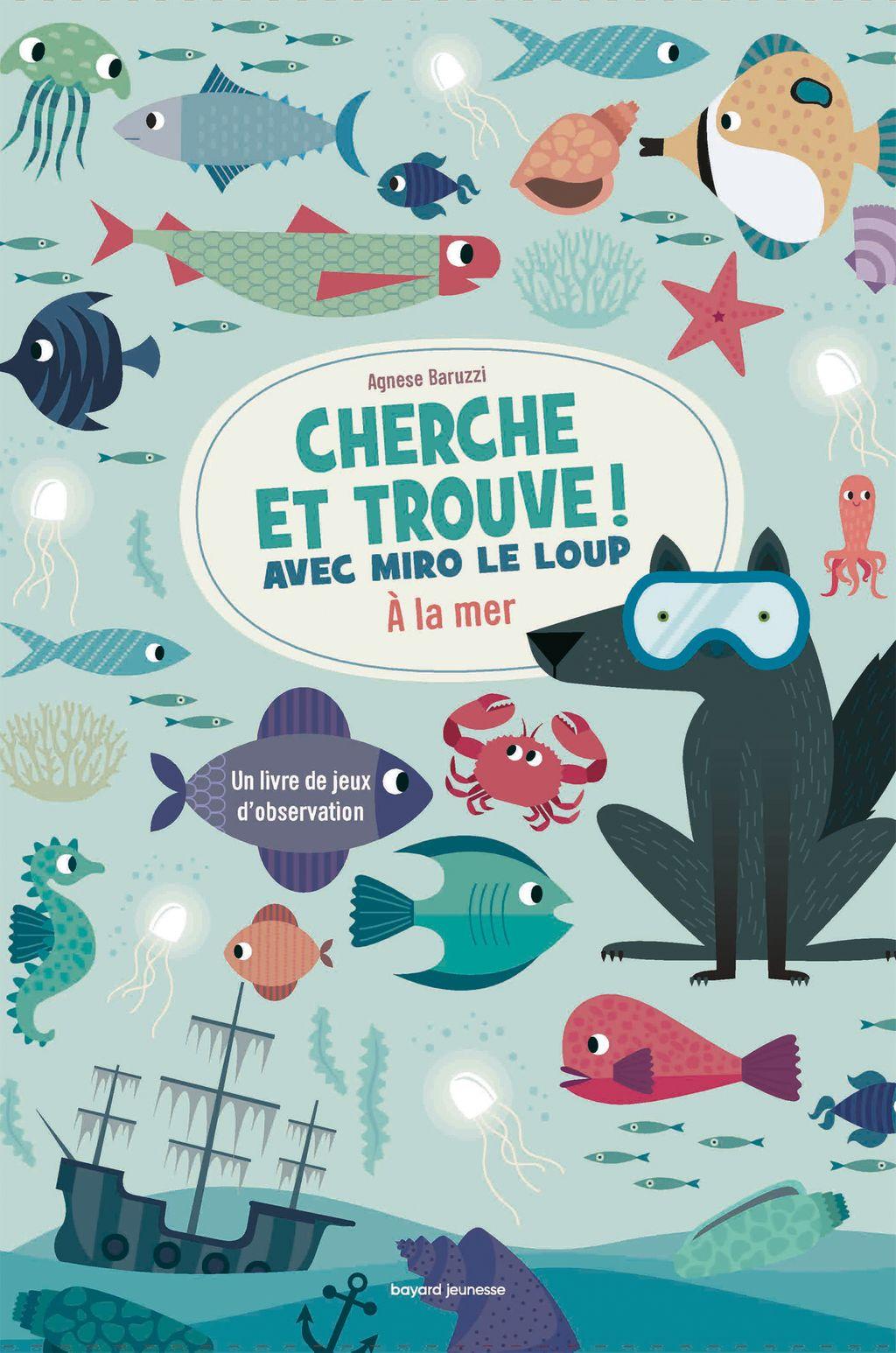 Couverture de «Cherche et trouve / Miro le loup à la mer (2)»
