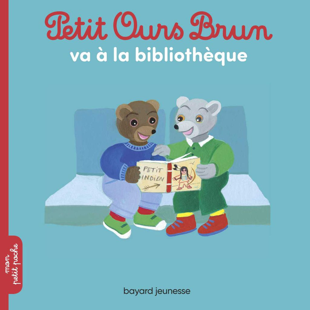 Couverture de «Petit Ours Brun va à la bibliothèque»