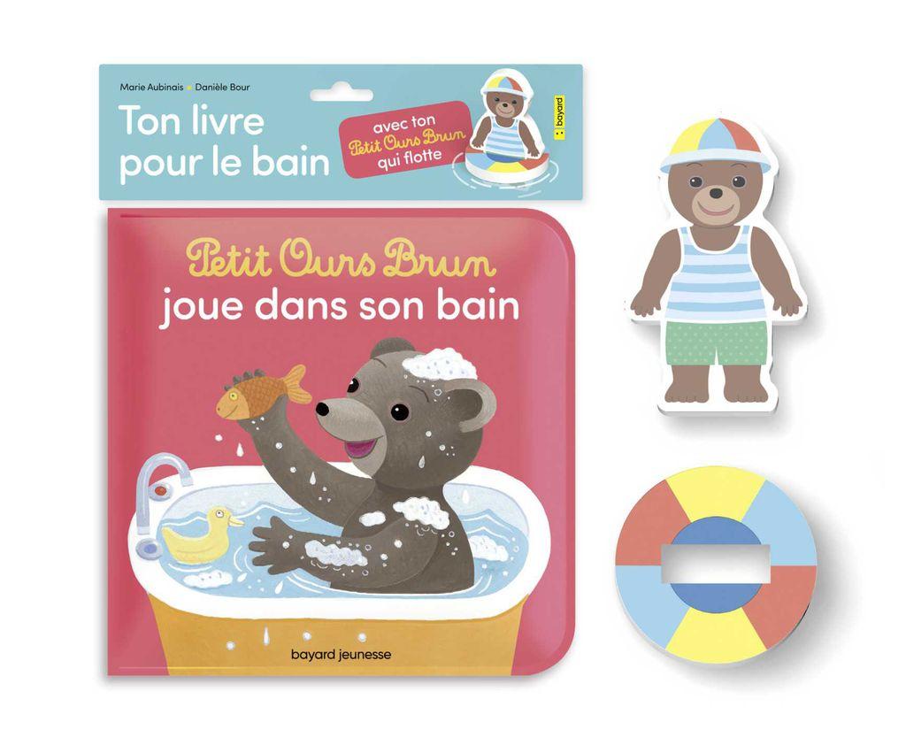 Couverture de «Petit Ours Brun joue dans son bain – Ton livre bain et ton jouet qui flotte»