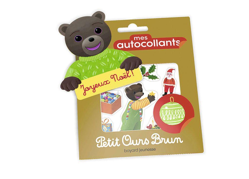 Couverture de «Mes autocollants Petit Ours Brun – Joyeux Noël !»
