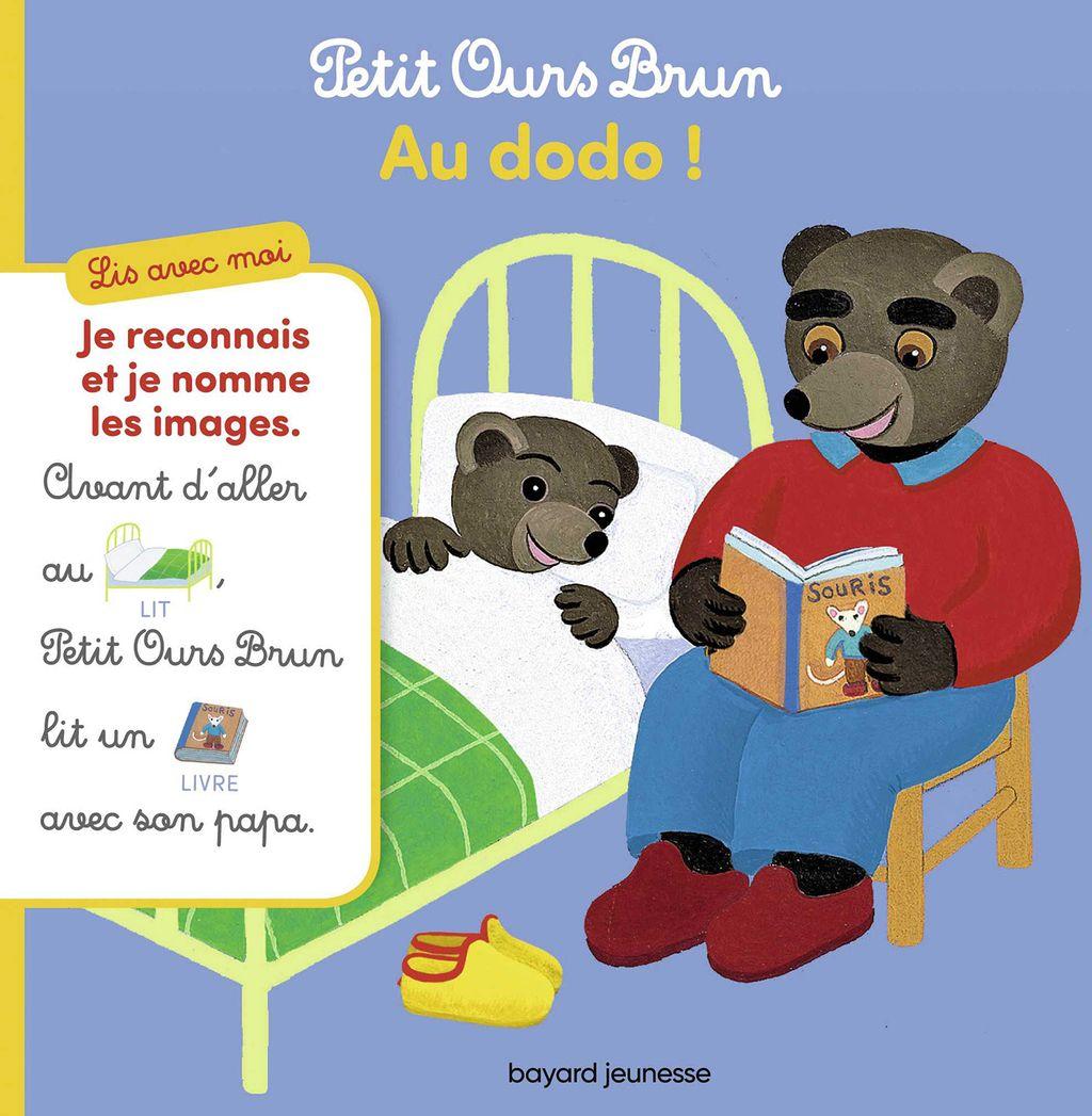 Couverture de «Lis avec moi Petit Ours Brun – Au dodo !»