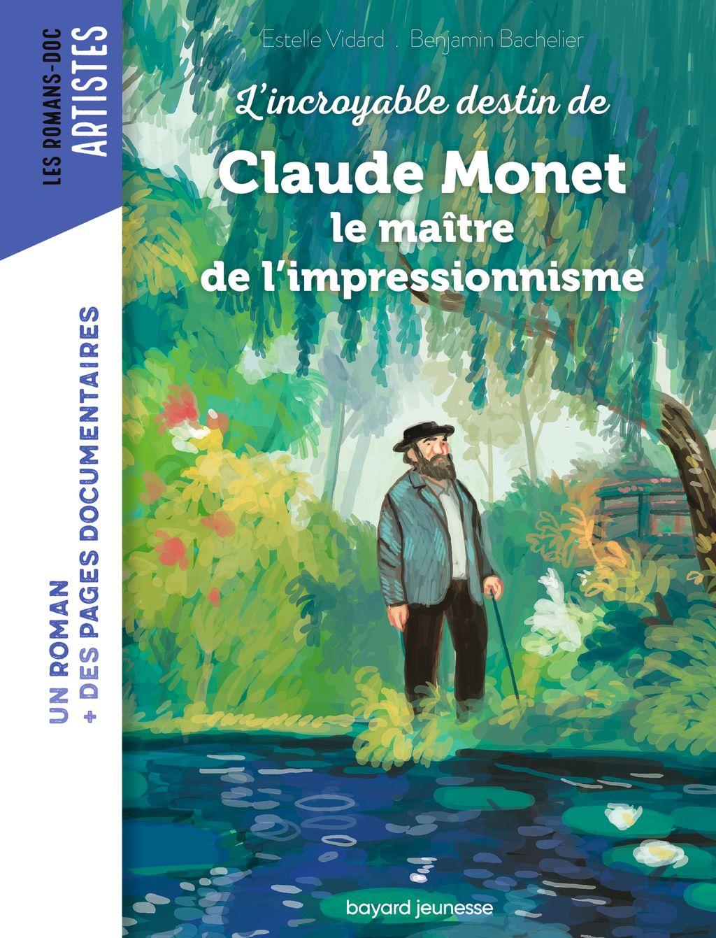 Couverture de «Roman Doc Art – Claude Monet, le maître de l'impressionnisme»