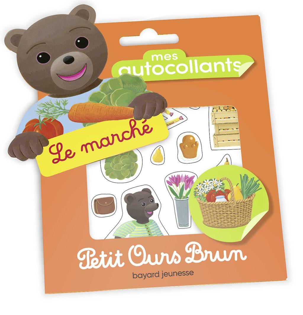 Couverture de «Mes autocollants Petit Ours Brun – Le marché»