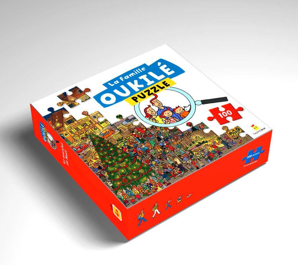 Couverture de «La famille Oukilé Puzzle Le marché de Noël»
