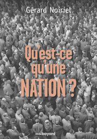 Couverture «QU'EST-CE QU'UNE NATION ?»