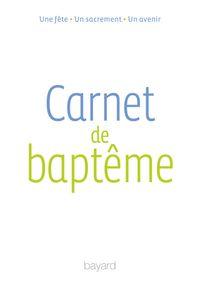 Couverture «Carnet de baptême»