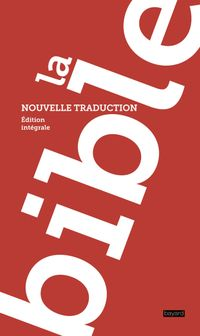 Couverture « La Bible, nouvelle traduction »