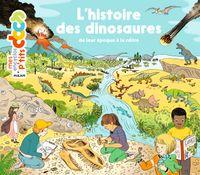 Couverture «L'histoire des dinosaures»