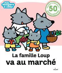 Couverture «La famille Loup va au marché»