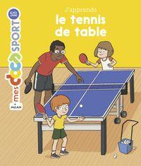 Couverture «J'apprends le tennis de table»