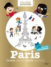 Couverture «Mon cahier d'activités – Paris»