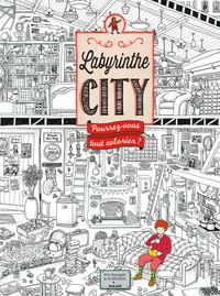 Couverture « Labyrinthe City – Le coloriage »