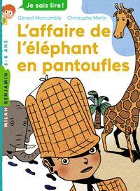 Couverture «L'affaire de l'éléphant en pantoufles»