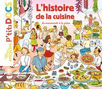 Couverture «L'histoire de la cuisine du mammouth à la pizza»