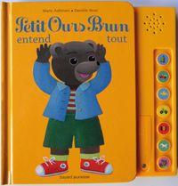 Couverture «Petit Ours Brun entend tout – livre sonore»