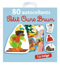 Cover of « La neige – 80 autocollants Petit Ours Brun »
