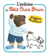Cover of «L'ardoise de Petit Ours Brun – Je dessine les animaux»