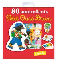 Cover of «L'école – 80 autocollants Petit Ours Brun»