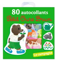 Cover of «La campagne – 80 autocollants Petit Ours Brun»