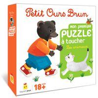 Couverture «Jeu Petit Ours Brun – Mon premier puzzle à toucher Les animaux»
