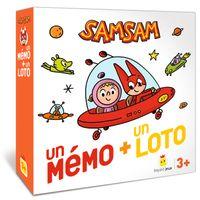 Couverture «Jeu SamSam – Un mémo + un loto»