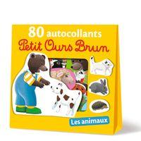 Couverture «Les animaux – 80 autocollants Petit Ours Brun»
