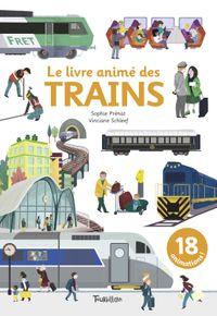 Couverture «Le livre animé des trains»
