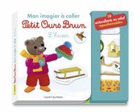 Couverture «Mon imagier à coller Petit Ours Brun – L'hiver»