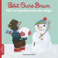 Couverture «Petit Ours Brun fait un bonhomme de neige»