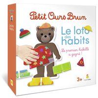 Couverture «Jeu Petit Ours Brun – Le loto des habits»