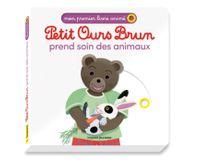 Couverture «Petit Ours Brun prend soin des animaux – Mon premier livre animé»