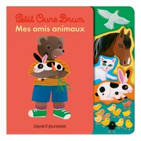 Cover of «Livre avec découpes Petit Ours Brun – Mes amis animaux»