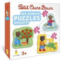 Cover of «Mes premiers puzzles évolutifs Petit Ours Brun»
