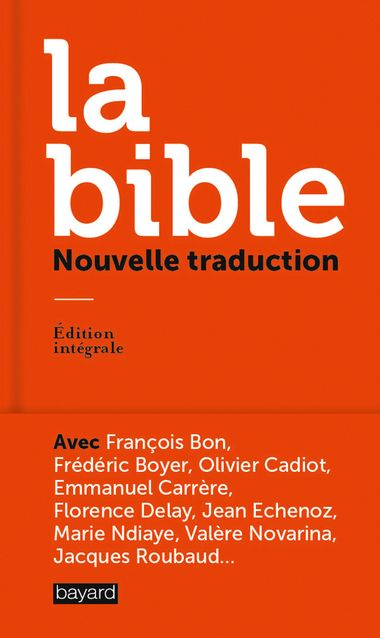 Couverture de «La Bible, nouvelle traduction»