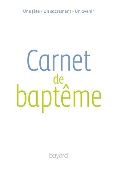 Couverture de «Carnet de baptême»
