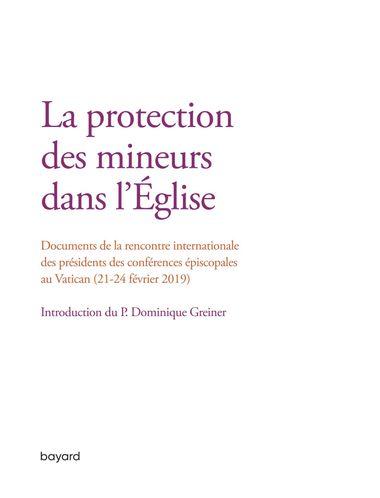 Couverture de «La protection des mineurs dans l'Eglise»