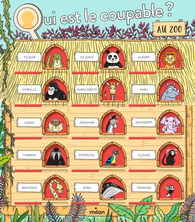 Couverture de «Qui est le coupable au zoo?»