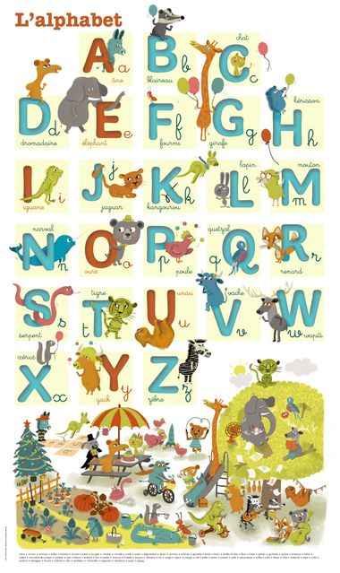 Couverture de « J'apprends l'alphabet – poster »