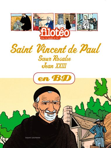 Couverture de « Saint Vincent de Paul en BD »