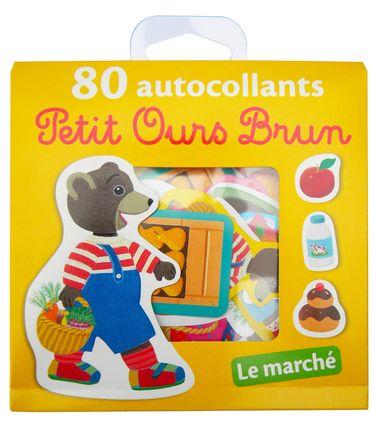 Couverture de «Le marché – 80 autocollants Petit Ours Brun»