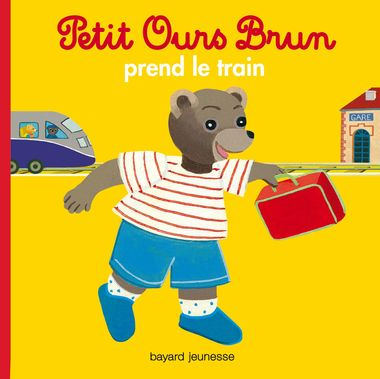 Couverture de « Petit Ours Brun prend le train »