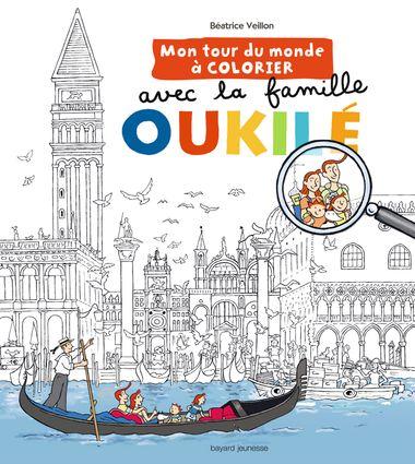 Couverture de «Mon tour du monde à colorier avec la Famile Oukilé»