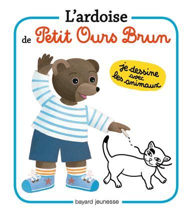 Couverture de «L'ardoise de Petit Ours Brun – Je dessine les animaux»