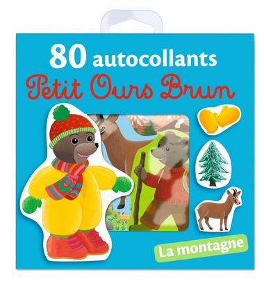Couverture de «La montagne – 80 autocollants Petit Ours Brun»