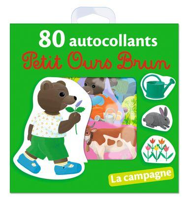 Couverture de «La campagne – 80 autocollants Petit Ours Brun»