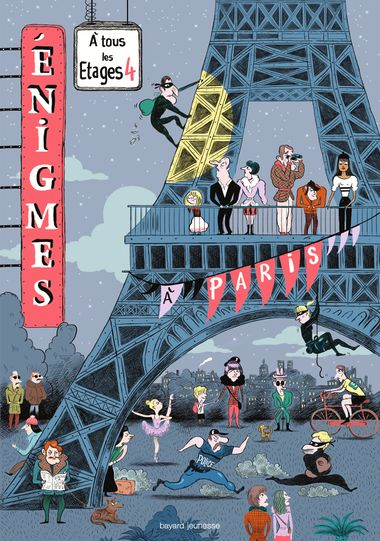 Couverture de «Énigmes à tous les étages T.4, À Paris»