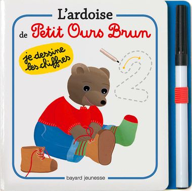 Couverture de «L'ardoise de Petit Ours Brun – Je dessine les chiffres»