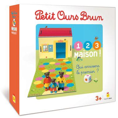 Couverture de «Jeu Petit Ours Brun – 1,2,3, Maison !»