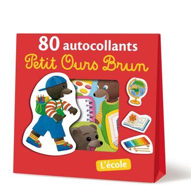 Couverture de «L'école – 80 autocollants Petit Ours Brun»