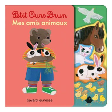 Couverture de «Livre avec découpes Petit Ours Brun – Mes amis animaux»